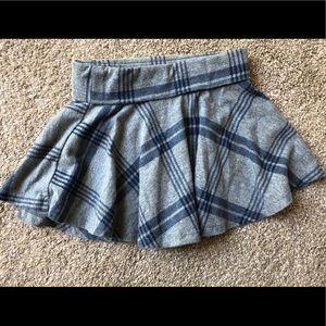 Navy and gray skirt 18-24 mo